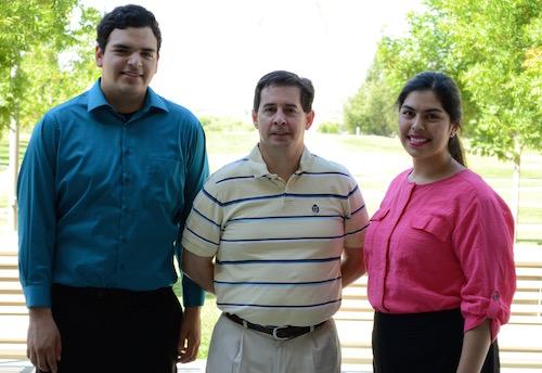Benny Escobedo, Dr. Rudy Ortiz, and Susana Calderon