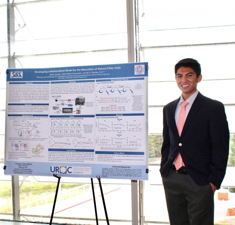 Jeffrey Aceves presenting his poster at the 11th Annual Research Symposium