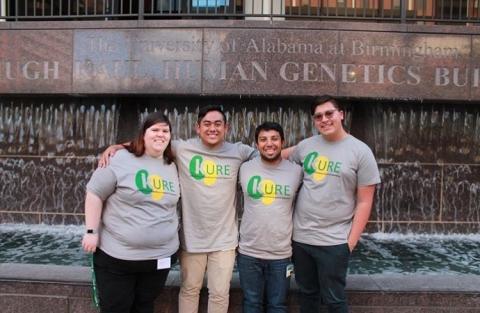 Summer 2017 Cohort in front of Hugh Kaul Human Genetics Building