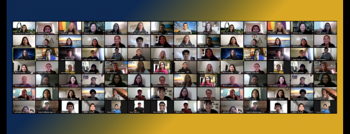 Group image of 2020 scholars on zoom. Click to read article about summer programs continuing.